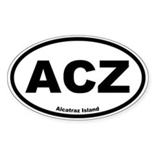 Alcatraz Island Oval Decal