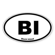 Block Island Oval Decal