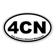 Four Corners National Monument Oval Decal