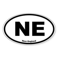 New England Oval Decal