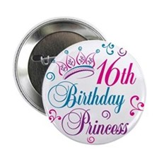 "16th Birthday Princess 2.25"" Button"