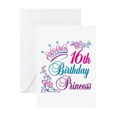 16th Birthday Princess Greeting Card