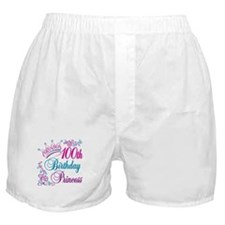 100th Birthday Princess Boxer Shorts