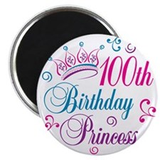 "100th Birthday Princess 2.25"" Magnet (10 pack)"