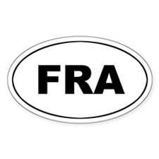 France / French (FRA_ Oval Decal