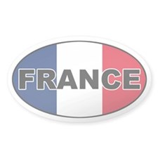 French Flag Oval Decal