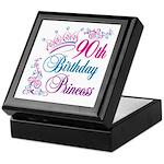 90th Birthday Princess Keepsake Box