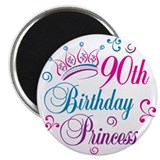 90th Birthday Princess Magnet