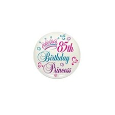 85th Birthday Princess Mini Button (100 pack)