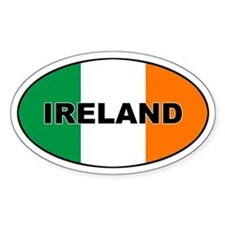 Flag of Ireland Oval Decal