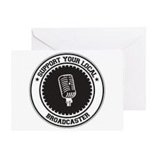 Support Broadcaster Greeting Card