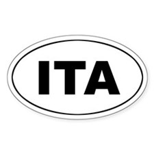 Italy (ITA) Oval Decal
