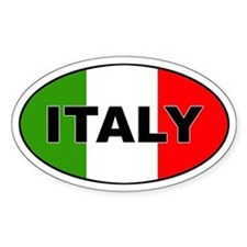 Italy (Italia) Flag Oval Decal