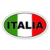 Italia Oval Décalcomanies