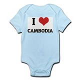 I Love Cambodia Infant Creeper