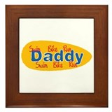 Triathlon Daddy Framed Tile