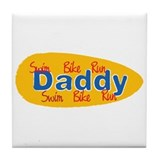 Triathlon Daddy Tile Coaster