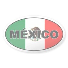 Mexico Flag Oval Decal