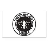 Support Beekeeper Rectangle Decal