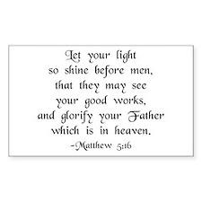 """Let your Light Shine"" [text] Sticker (Rectangular"