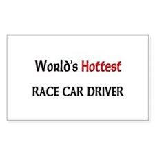 World's Hottest Race Car Driver Sticker (Rectangle