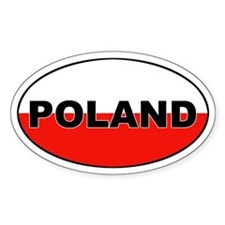 Poland Flag Oval Decal