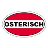 Austrian (Osterisch) Flag Oval Decal