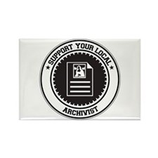 Support Archivist Rectangle Magnet (100 pack)