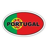Portugal (PRT) Flag Oval Decal