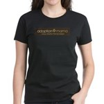 Adoption Mama Brown/Green Log Women's Dark T-Shirt