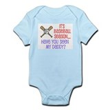 """Baseball Season...Daddy"" Infant Bodysuit"