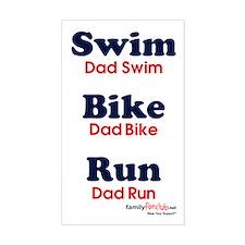Triathlon Dad Rectangle Decal