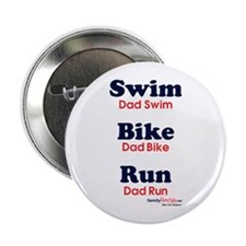 "Triathlon Dad 2.25"" Button"