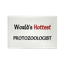 World's Hottest Protozoologist Rectangle Magnet