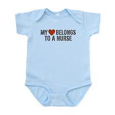 My Heart Belongs to a Nurse Infant Bodysuit