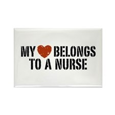 My Heart Belongs to a Nurse Rectangle Magnet