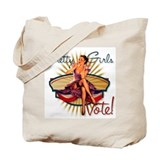Pretty Girls Vote : 1940's Tote Bag