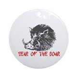 Year of the Boar Ornament (Round)