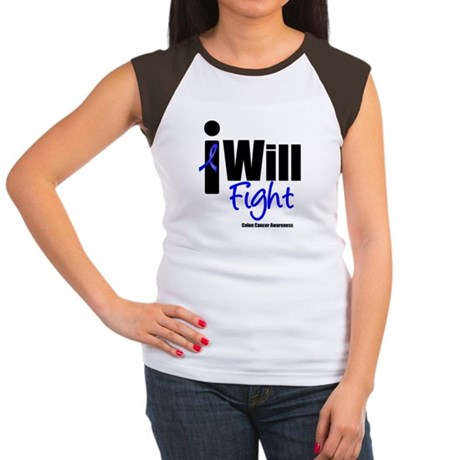 Colon Cancer I Will Fight Women's Cap Sleeve T-Shi
