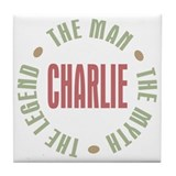 Charlie Man Myth Legend Tile Coaster