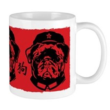 Black Pug Chairman - Propaganda Coffee Mug