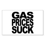 Gas Prices Suck Rectangle Sticker
