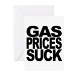 Gas Prices Suck Greeting Cards (Pk of 10)