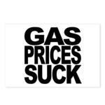 Gas Prices Suck Postcards (Package of 8)