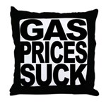 Gas Prices Suck Throw Pillow