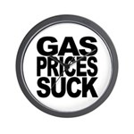 Gas Prices Suck Wall Clock