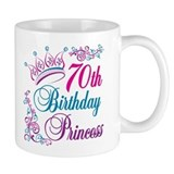70th Birthday Princess Mug