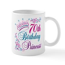 70th Birthday Princess Mug