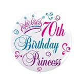 "70th Birthday Princess 3.5"" Button (100 pack)"