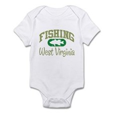FISHING WEST VIRGINIA Infant Bodysuit